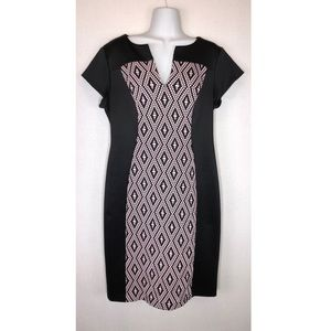 CONNECTED APPAREL JERSEY STRETCH SHEATH DRESS 10